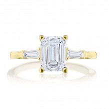 Tacori 18k Yellow Gold Simply Tacori 3 Stone Diamond Engagement Ring - 2669EC75X55Y