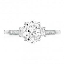 Tacori 18k White Gold Simply Tacori 3 Stone Diamond Engagement Ring - 2659OV8X6W