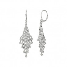Jewelmi Custom 14k White Gold Diamond Chandelier Earrings