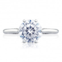 Tacori 18k White Gold Simply Tacori Solitaire Diamond Engagement Ring - 2650RD8W
