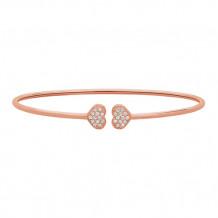 Jewelmi Custom 14k Rose Gold Diamond Bangle Bracelet