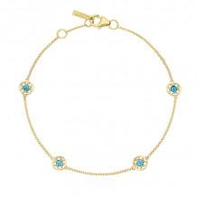 Tacori 14k Yellow Gold Petite Gemstones Women's Bracelet - SB23033FY