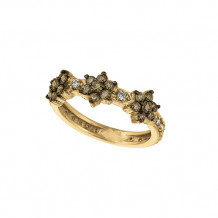Jewelmi Custom 14k Yellow Gold Diamond Flower Ring