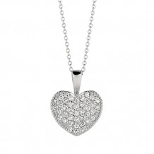 Jewelmi Custom 14k White Gold Diamond Necklace