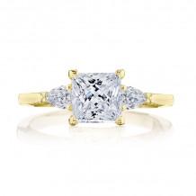 Tacori 18k Yellow Gold Simply Tacori 3 Stone Diamond Engagement Ring - 2668PR6Y