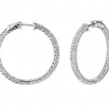 Jewelmi Custom 14k White Gold Diamond Hoop Earrings