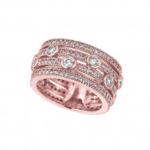 Jewelmi Custom 14k Rose Gold Diamond Ring