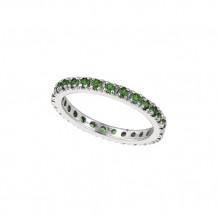 Jewelmi Custom 14k White Gold Tsavorite Ring