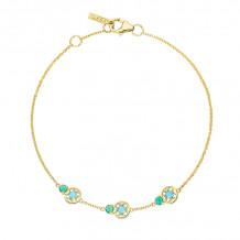 Tacori 14k Yellow Gold Petite Gemstones Women's Bracelet - SB2294849FY
