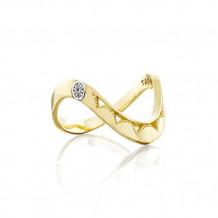 Tacori 18k Yellow Gold Crescent Cove Men's Ring - SR215Y