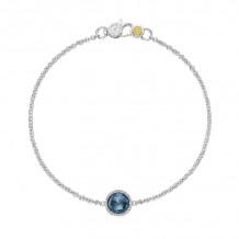 Tacori Sterling Silver Crescent Embrace Gemstone Women's Bracelet - SB16733