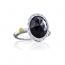 Tacori Sterling Silver Crescent Embrace Gemstone Men's Ring - SR22219