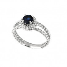 Jewelmi Custom 14k White Gold Sapphire Diamond Ring
