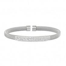 Jewelmi Custom 14k White Gold Diamond Bangle Bracelet