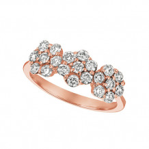 Jewelmi Custom 14k Rose Gold Diamond Flower Ring