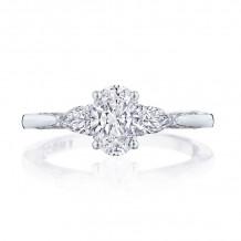 Tacori Platinum Simply Tacori 3 Stone Diamond Engagement Ring - 2668OV7X5