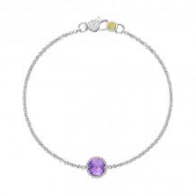 Tacori Sterling Silver Crescent Embrace Gemstone Women's Bracelet - SB16701