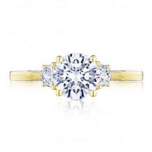 Tacori 18k Yellow Gold Simply Tacori 3 Stone Diamond Engagement Ring - 2658RD7Y