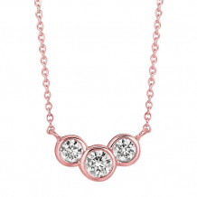 Jewelmi Custom 14k Rose Gold Diamond Necklace
