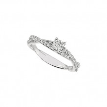Jewelmi Custom 14k White Gold Twisted Diamond Engagement Ring